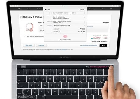Apple lo dien hinh anh MacBook co man hinh OLED phu va TouchID - Anh 2