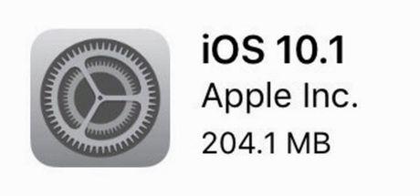 "iOS 10.1: Nang cap gap van de, nhung khong nang cung ""chet"" - Anh 1"
