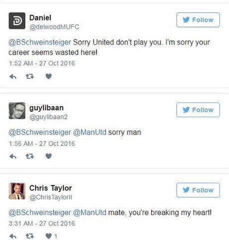 Schweinsteiger khien fan Man United phat khoc voi dong tweet nay - Anh 5