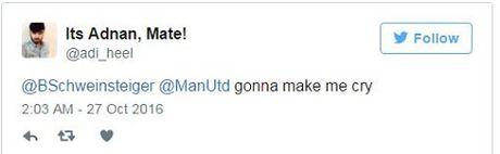 Schweinsteiger khien fan Man United phat khoc voi dong tweet nay - Anh 6