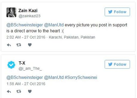 Schweinsteiger khien fan Man United phat khoc voi dong tweet nay - Anh 7