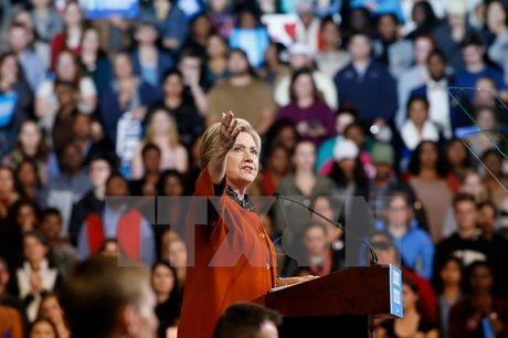 Ba Michelle Obama keu goi cu tri bo phieu cho ung cu vien Clinton - Anh 1