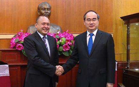 Chu tich MTTQ Viet Nam tiep Dai su Kazakhstan - Anh 1