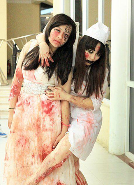 Nhung ma nu Halloween xinh tuyet tran va kinh di 'kich tran' - Anh 2