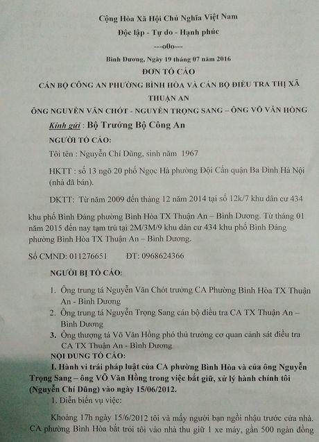 Vuong an oan nghiet vi 1 loi noi 'dong cham' Truong Cong an phuong? - Anh 3