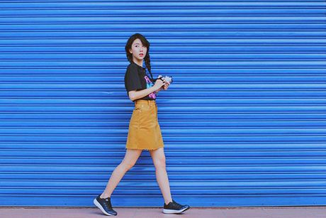 Quynh Anh Shyn bien bo tuong, cot dien thanh anh street style sieu chat - Anh 11