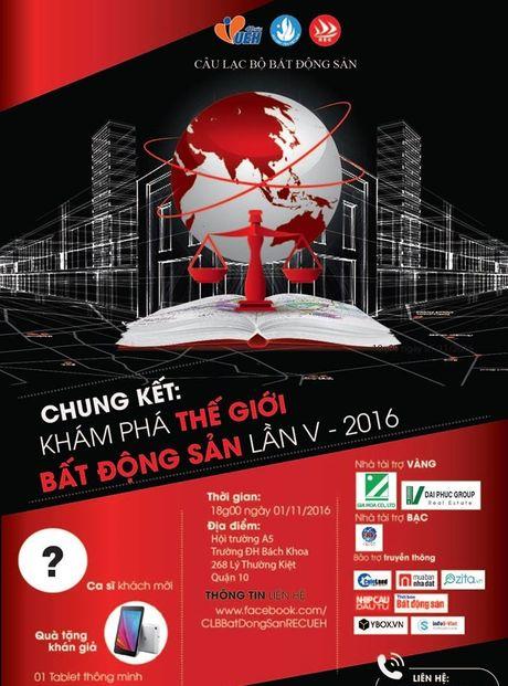 "Ngay 1/11: Chung ket cuoc thi ""Kham pha the gioi Bat dong san lan V – 2016"" - Anh 1"