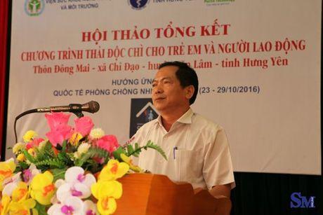 Cong bo ket qua thai doc chi bang Pectin Complex cho nguoi dan thon Dong Mai - Anh 1