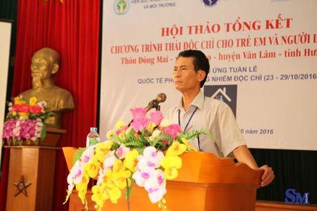 Cong bo ket qua thai doc chi bang Pectin Complex cho nguoi dan thon Dong Mai - Anh 4
