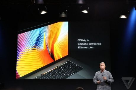 MacBook Pro moi ra mat: man hinh phu Touch Bar, Touch ID, USB C - Anh 10