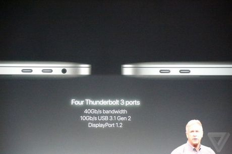 MacBook Pro moi ra mat: man hinh phu Touch Bar, Touch ID, USB C - Anh 12