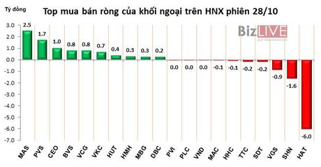 Phien 28/10: Do tien lai vao VNS, HPG, khoi ngoai tro lai mua rong 89 ty dong - Anh 2