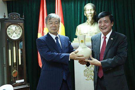 Chu tich Tong LDLDVN tiep Tong thu ky Tong Cong doan Quoc te khu vuc Chau A - Thai Binh Duong - Anh 1