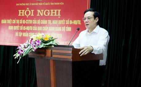Thanh Hoa: Tap huan Luat MTTQ Viet Nam - Anh 1