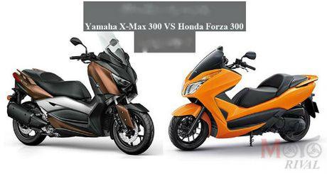 So gang Yamaha X-Max 300 va Honda Forza 300 - Anh 1
