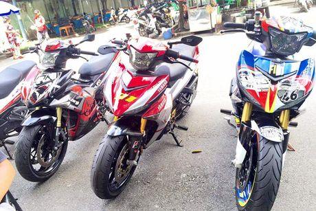 Bo ba Yamaha Exciter 150 'banh beo' do khung tai VN - Anh 1