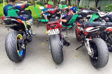 Bo ba Yamaha Exciter 150 'banh beo' do khung tai VN - Anh 6