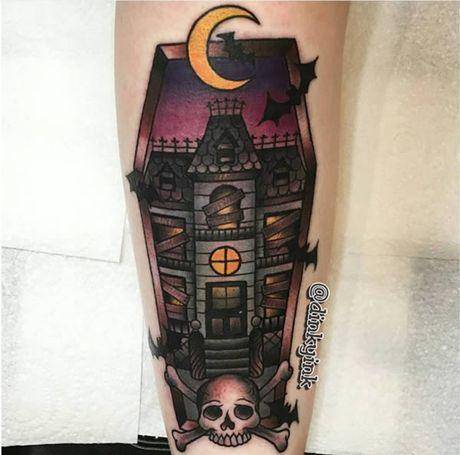 Chiem nguong cac mau tattoo an khach nhat mua Halloween - Anh 11