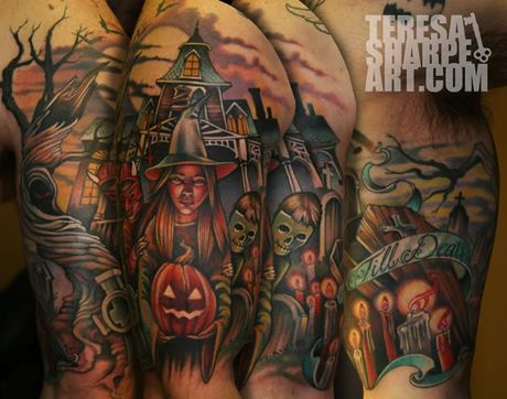 Chiem nguong cac mau tattoo an khach nhat mua Halloween - Anh 5