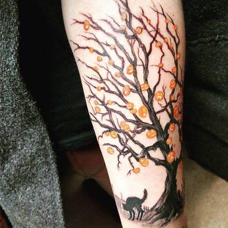 Chiem nguong cac mau tattoo an khach nhat mua Halloween - Anh 6