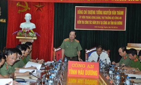Bo Cong an kiem tra cong tac cua Cong an tinh Hai Duong - Anh 1