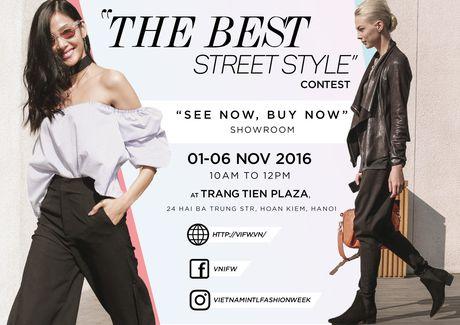 """THE BEST STREET STYLE"" gout thoi trang cuc chat cua ban tai VIFW 2016 - Anh 1"