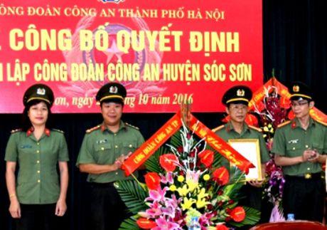 Thanh lap Cong doan Cong an huyen Soc Son - Anh 1