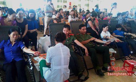 Tan Ky: Tren 1200 tinh nguyen vien tham gia hien mau - Anh 2