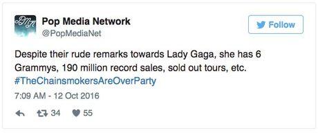 Het che bai Lady Gaga den nghi an dao nhai, bo doi Chainsmoker muon gi? - Anh 1