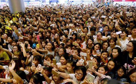 Fan chen lan den ngat xiu de xem Noo Phuoc Thinh bieu dien - Anh 2