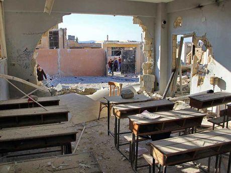 Nga tuyen bo khong nem bom vao truong hoc o Syria - Anh 2