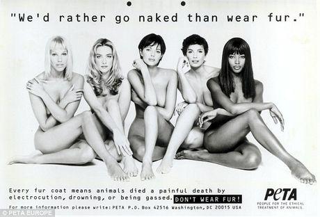 Naomi Campbell mac ao long thu sau 20 nam 'nude vi dong vat' - Anh 2