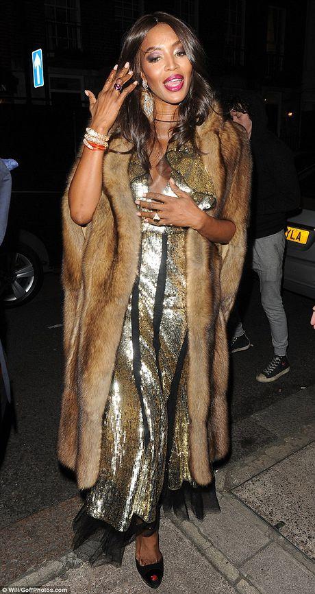 Naomi Campbell mac ao long thu sau 20 nam 'nude vi dong vat' - Anh 3