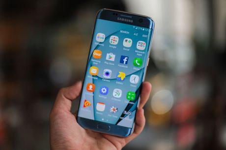 Anh Samsung Galaxy S7 edge xanh san ho sap ban tai VN - Anh 10