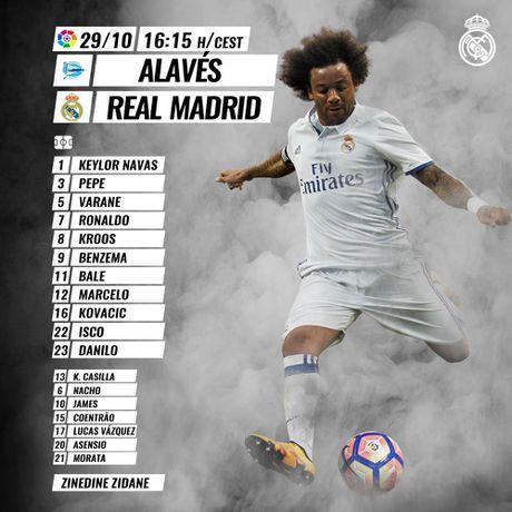 Ronaldo lap hat-trick, Real thang dam Alaves 4-1 - Anh 20