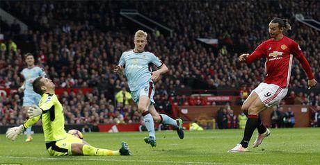 Ibrahimovic qua vo duyen, MU bat luc truoc Burnley - Anh 1
