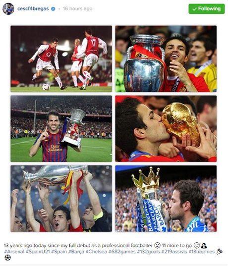 Fabregas bi to choc gian Arsenal bang anh vo dich voi Barcelona va Chelsea - Anh 1