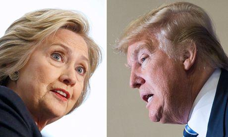 Trump bam duoi sit sao Clinton trong khao sat moi - Anh 1