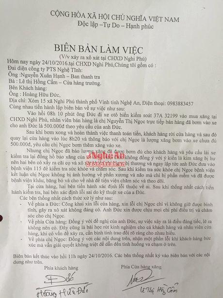 Vu nhan vien cay xang bi danh: Nguyen nhan do loi ky thuat xe - Anh 2