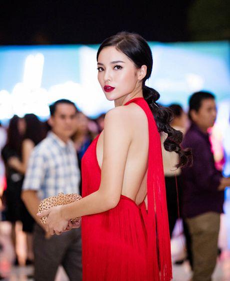 Hoa hau Ky Duyen dien dam do khoe lung tran quyen ru - Anh 4