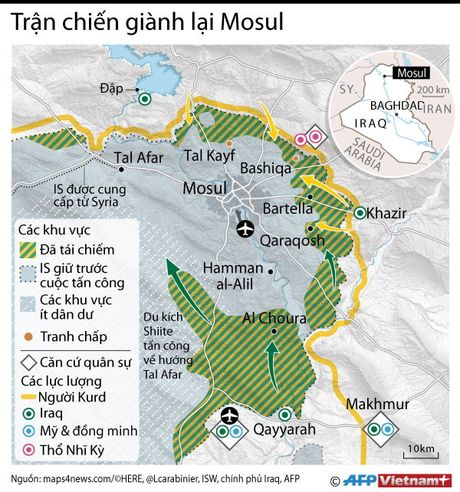 Toan canh tran chien gianh lai thanh pho Mosul - Anh 1