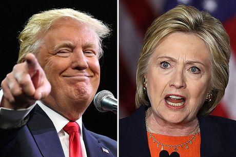 Ty phu D.Trump thu hep khoang cach voi ba H.Clinton - Anh 1