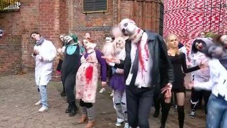Nhay flashmob chao don Halloween tai Berlin, Duc - Anh 1
