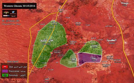 Quan doi Syria bao vay phong toa thi tran then chot Tay Ghouta - Anh 1