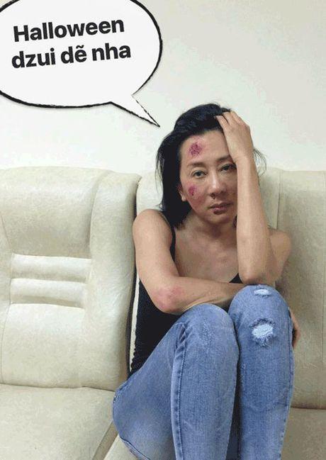 Phat hoang khi MC Ky Duyen, BTV Quang Minh hoa trang Halloween - Anh 15