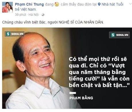 NSUT Chi Trung: 'Chung chau vinh biet bac Pham Bang - nguoi NGHE SI CUA NHAN DAN' - Anh 1