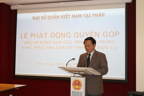 Dai su quan Viet Nam tai Phap quyen gop hon 1.900 euro cho mien Trung - Anh 1
