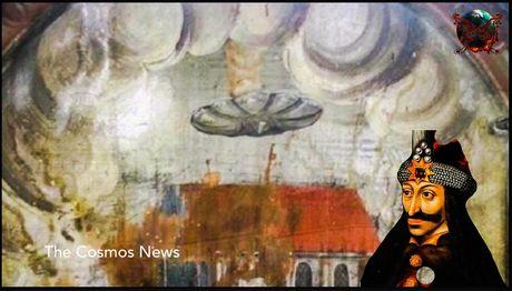 Can canh UFO trong buc tranh co o lau dai Dracula - Anh 1