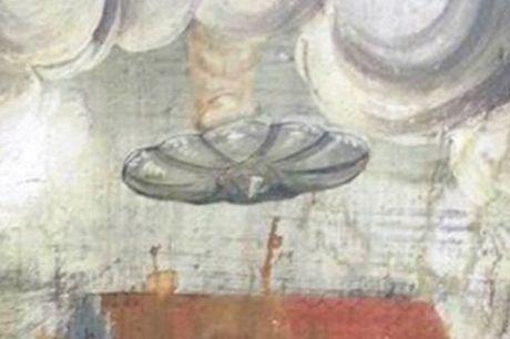 Can canh UFO trong buc tranh co o lau dai Dracula - Anh 4