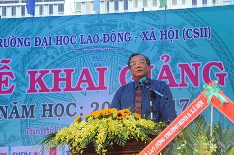 Truong Dai hoc Lao dong – Xa hoi (co so 2) khai giang nam hoc moi - Anh 1